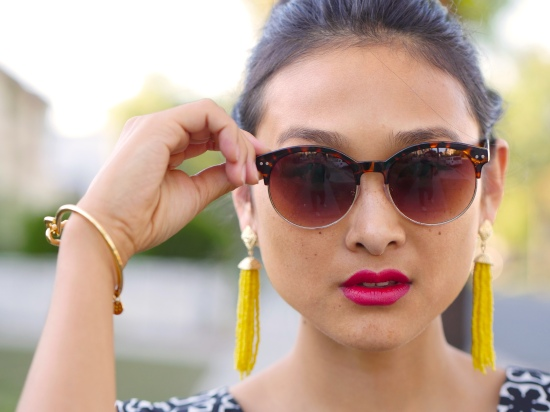 zerouv sunglasses tortoise jules smith americana latch bracelet