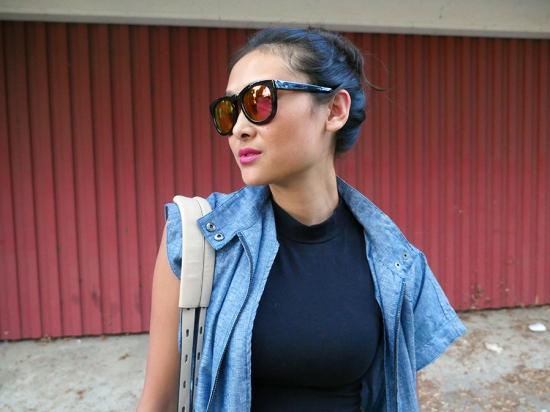 wildfox couture classic fox d frame mirror reflective tortoise sunglasses