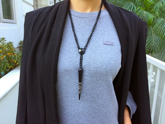 alex chloe spike necklace lacoste stone chine cotton dress with pocket