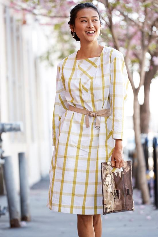michelle forstadt trademark plaid dress