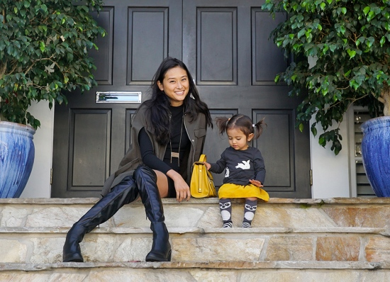 mom-and-daughter-fall-fashion-mustard-black-grey-over-the-knee-boots-and-socks-2