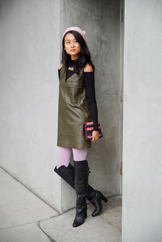 zara-olive-faux-leather-sheath-dress